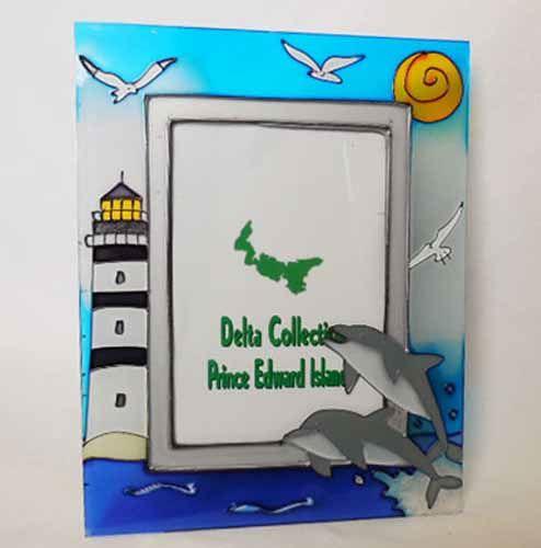 Glass Lighthouse & Dolphin Frame
