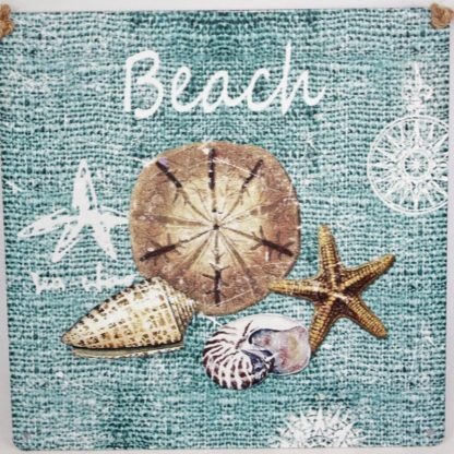 Beach Metal Sign