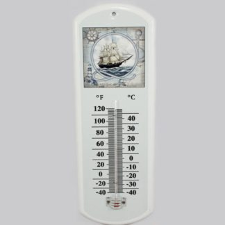 Sailboat Metal Thermometer