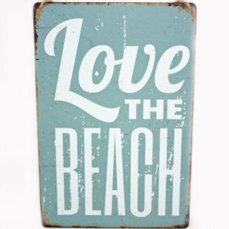 Love the Beach Metal Sign