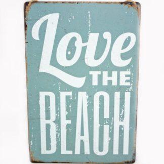 Love the Beach Metal Sign