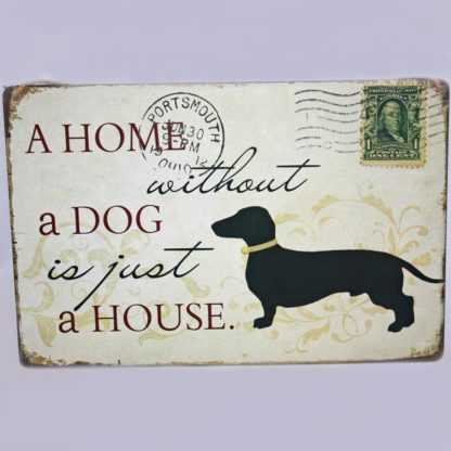 Dog Metal Sign