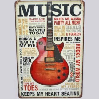 Music Metal Sign