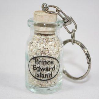 PEI Sand in Bottle Key Ring