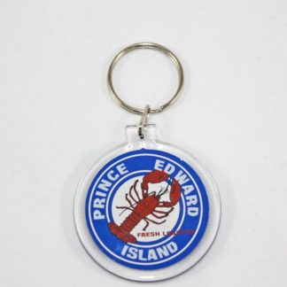 PEI Lobster Circle Key Ring