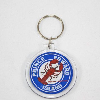 PEI Lobster Circle Key Ring