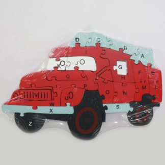 Firetruck Wood Puzzle