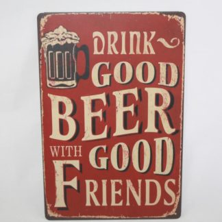 Good Beer Metal Sign
