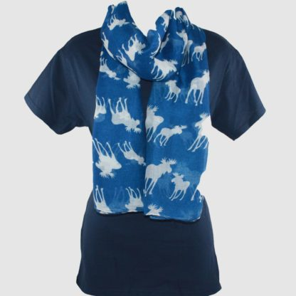 Moose Scarf Blue
