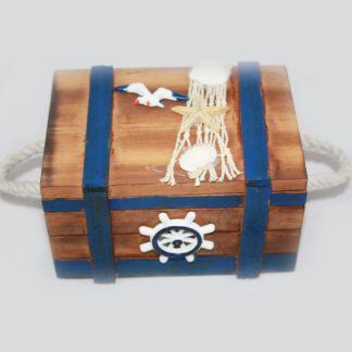 Nautical Wood Chest Medium