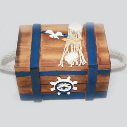 Nautical Wood Chest Medium