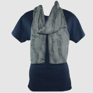 Treble Clef Music Scarf