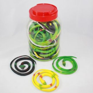 Rubber Snakes with Display 24Pcs