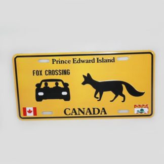 PEI Fox License Plate
