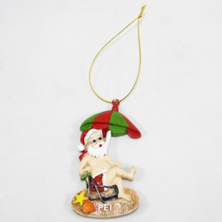 PEI Santa Ornament